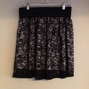 L French Atmosphere Lacy Skirt- Unicorn